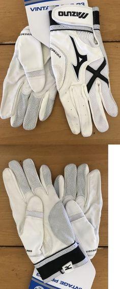 eb0b4a49b06e4 Batting Gloves 181351  Mizuno Vintage Pro Baseball Softball Batting Gloves  Black White Adult Medium -