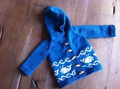 Ravelry: Save the baby whales! pattern by Sargantana Formenterenca Baby Sweater Knitting Pattern, Baby Sweater Patterns, Knitting Patterns Free, Knit Patterns, Free Knitting, Baby Knitting, Crochet Baby, Knit Crochet, Free Pattern