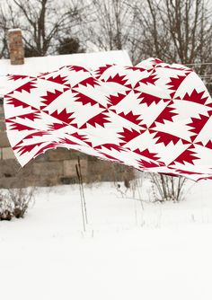 Red and white in the wind...made and photographed by my Michigan friend Lynn Harris of The Little Red Hen : ) Fabulous!!!