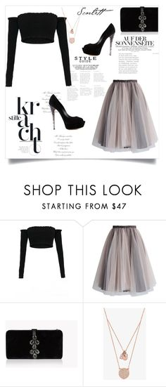 """265444"" by juliette-grimm ❤ liked on Polyvore featuring Chicwish, Dsquared2, Michael Kors and Casadei"
