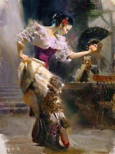 Daeni, Pino (Giuseppe D'Angelico- b,1939)- Dance, IIb