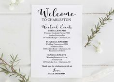 Wedding Weekend Timeline Template Wedding Weekend Itinerary