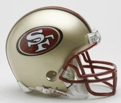 San Francisco 49ers 1996-2008 Throwback Replica Mini Helmet w/ Z2B Face Mask