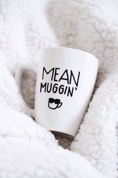 Mean muggin' mug / mean muggin / mean mugging / funny mug / cute mug / quote mug / coffee lover / tea lover / sunglasses / mug by ivoryandcompany on Etsy https://www.etsy.com/listing/263850128/mean-muggin-mug-mean-muggin-mean-mugging