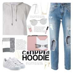 """Cropped Hoodie"" by katarinamm ❤ liked on Polyvore featuring Dolce&Gabbana, adidas, Karl Lagerfeld, adidas Originals, Fendi, Topshop, Sydney Evan, Lana, Alexis Bittar and River Island"