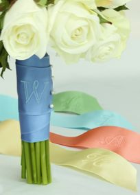 0994341598 Wrap your bouquet in this beautiful personalized satin bouquet ribbon