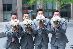 Toronto Financial District wedding party just guys fun Shangri La Hotel, Downtown Toronto, Bridesmaid Dresses, Wedding Dresses, The Chic, Beautiful Bride, Centre, Photo Ideas, Wedding Photos