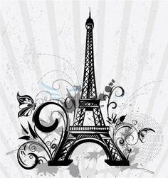 eifffel tower tattoo | Eiffel Tower Cartoon Clip Art