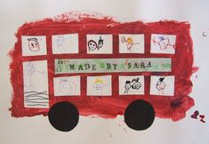 make a bus! can also use cut outs from magazines! @Harriet Williams camp kinie?