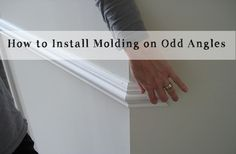 How to Install Molding and Trim on odd angles.  Makes tricky work much easier.  #DIY