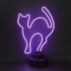 Neonetics 4CATMM Purple Cat Neon Sculpture