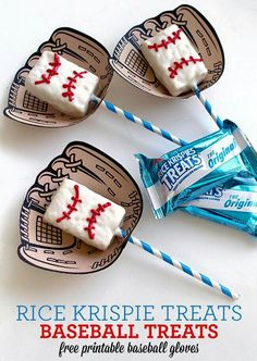 Baseball Rice Krispies Treats Tutorial Here is a fun treat that you can make with Rice Krispies Treats that is perfect for baseball season. These Baseball Rice Krispies Treats are fun for the whole team and include a free baseball glove printable. Softball Party, Baseball Birthday Party, 1st Birthday Parties, Sports Party, Birthday Ideas, Softball Wedding, Sports Birthday, Boy Birthday, Vintage Baseball Party