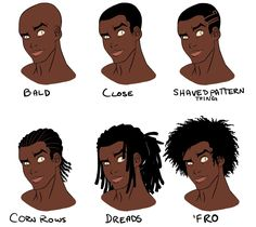 How To Draw African American Male Hair Google Search Drawing