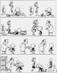 Education & TV by Quino Funny Images, Funny Pictures, Conversation Starters For Kids, Vs The World, Humor Grafico, Happy People, Satire, Just For Laughs, Funny Comics