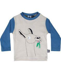 Opgelet: spuwende lama!! Ubang Babblechat beige lama t-shirt #emilea