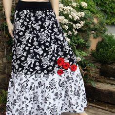 Skirt Waist Skirt, High Waisted Skirt, Floral, Skirts, Black, Fashion, Moda, High Waist Skirt, Skirt