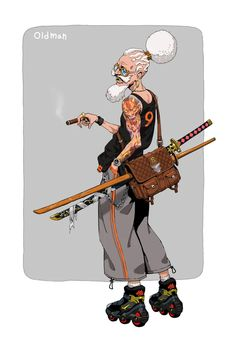 oldman, Garam Jeong : ImaginaryCharacters Fantasy Character Design, Character Drawing, Character Design Inspiration, Character Concept, Character Illustration, Dnd Characters, Fantasy Characters, 6 Chakra, Fuchs Illustration