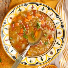 Nancy Baggett's Kitchenlane: Hearty, Wholesome & Easy Curried Lentil Soup--Another Recipe to Help You Eat Healthier in the New Year