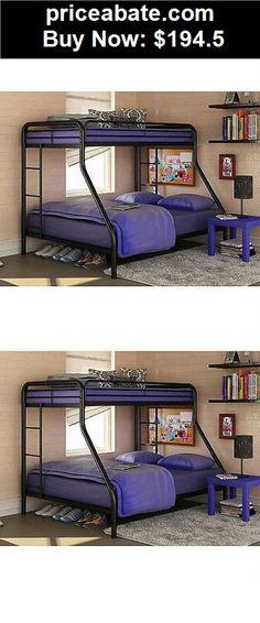 Kids-Furniture: Twin over Full Bunk Beds Metal Bunkbeds Kids Teens Dorm Bedroom Furniture NEW - BUY IT NOW ONLY $194.5