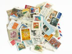 100x mixed Postage Stamps Used Stamps by thejellybeanstudio