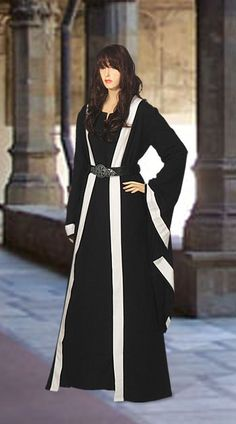 Celtic Medieval Ritual Robe Coat No. 6 with Trim - 67.00USD - Medieval and Renaissance Clothing, Handmade by Your Dressmaker