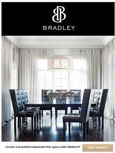 Industrial Chic with BRADLEY custom pieces.