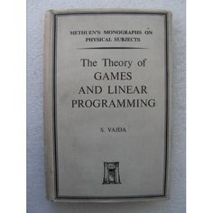 Find The Theory of Games and Linear Programming. 1956 in the Antiques - Books/Manuscripts category in Webstore online auctions Linear Programming, Maths Algebra, 8th Grade Math, Math Teacher, Antique Books, Theory, Physics, Games, Old Books