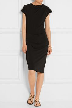 BY MALENE BIRGER Natuche ruched stretch-crepe dress