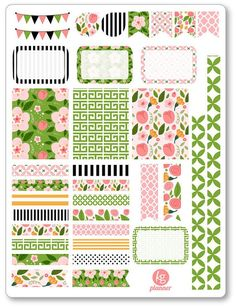 Rosa Decorating Kit / Weekly Spread Planner Stickers for Erin Condren Planner, Filofax, Plum Paper: