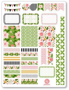 Rosa Decorating Kit / Weekly Spread Planner Stickers for Erin Condren Planner, Filofax, Plum Paper: