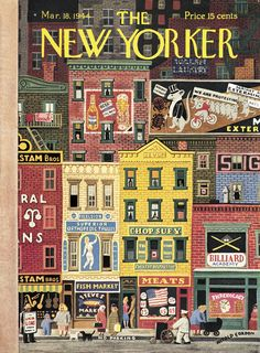 The New Yorker - Saturday, March 18, 1944 - Issue # 996 - Vol. 20 - N° 5 - Cover by : Witold Gordon