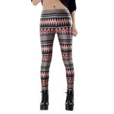 Female Funny leggings digital printing fake striped Women Trousers Free shipping