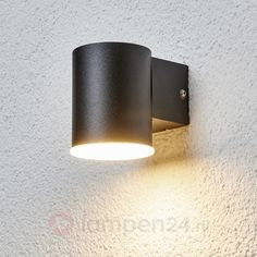 Eenvoudige LED-buitenwandlamp Morena in zwart 9988057