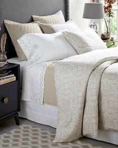 Signature Wrinkle-Resistant Arabesque Sateen Bedding by Garnet Hill - Garnet Hill