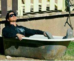 Zak in the tub