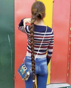 Plait   Silky braid reaching down her legs   hairykrishna211   Flickr Plait, Braids For Long Hair, Scissors, Long Hair Styles, Legs, Long Hairstyle, Bicycle Kick, Long Haircuts, Long Hair Cuts