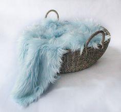 Baby Blue Mongolian Faux Fur Prop Long Pile by SweetBabyJamesShop