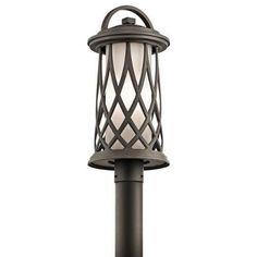Kichler Pebble Lane 1 Light Outdoor Post Light - Olde Bronze