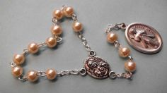 One Decade Divine Mercy Chaplet Rosary w St Faustina Faux Pearl | eBay