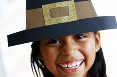 DIY Pilgrim Hats, this would be so fun for the kids to do when they are just a little bit older!  10.5.14
