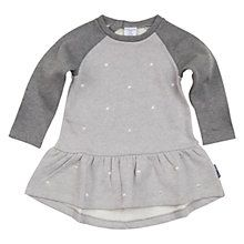 Polarn O. Pyret Baby's Embroidered Dress, Grey