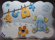 Les cartes de Blueberry: Éléphanteau 50% maman 50% papa