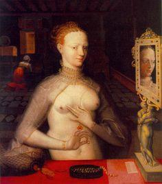 Portrait de Diane de Poitiers à sa toilette, vers 1590 école de Fontainebleau, atelier de François Clouet