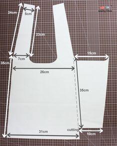 Cómo hacer un bolso de tela Diy Bags Easy, Simple Bags, Fashion Sewing, Diy Fashion, Bag Patterns To Sew, Sewing Patterns, Sewing Clothes, Diy Clothes, Diy Sac