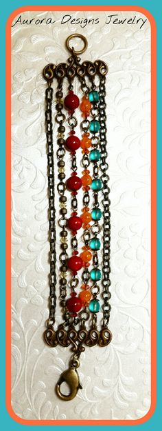 July-Aug challenge bracelet Choxie/color palette.  Aurora Designs Jewelry by Marcia Tuzzolino