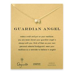 guardian angel, angel wings necklace, gold dipped....This is gorgeous.