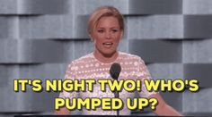 elizabeth banks dnc democratic national convention dnc 2016 pumped up trending #GIF on #Giphy via #IFTTT http://gph.is/2afD7oY