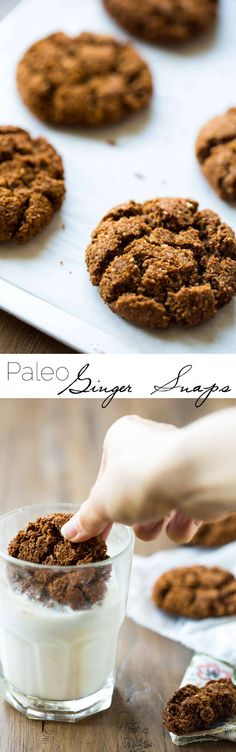 Paleo Gingersnaps - Completely butter free, gluten free and grain free, you will be amazed that these Christmas cookies taste better than Grandmas! Seriously, the best!   Foodfaithfitness.com   @FoodFaithFit