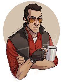 Sniper always drink coffee