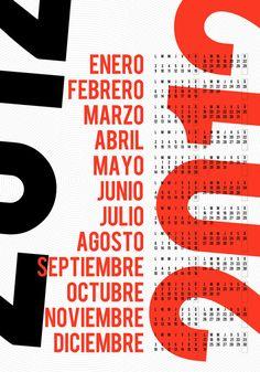2012 Modern Calendars Photo http://design-milk.com/2012-modern-calendars/